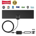 HDTV Antenna Indoor Digital 60-80 Miles Long Range TV Antenna with 2018 Newest Type Switch Console Amplifier Signal Booster, High Performance