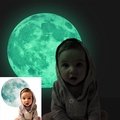 30cm Large Moon Glow in the Dark Removable Wall Stickers MoonlightDecoration - intl