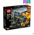 LEGO積木拼裝玩具鬥輪挖掘機42055 LX 居家