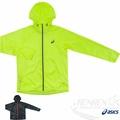 ASICS亞瑟士 可收納風衣外套(螢光綠) 輕巧便利 反光機能