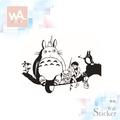Wall Art 龍貓壁貼 A款 現貨 宮崎駿 豆豆龍 吉卜力動畫世界 卡點西德轉貼膜貼紙 可愛卡通 兒童房裝飾布置