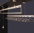 Laundry Hanger Stand Rack With Pulley For Pull And Dry Easy Dry Systems Ceiling Mounted Lifting Hanger Clothe Rack - intl