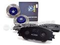 阿宏改裝部品 WTC JB 2013- ALTIS 11代 後 煞車 來令片 + ROAD MGK 劃線碟盤 原廠對應
