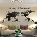 免運現貨 大號 特大號 世界地圖創意3d壓克力立體牆貼畫牆紙宿舍客廳背景裝飾品壁貼 壁紙 牆壁貼水晶壓克力