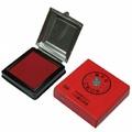 【萬年紅 】泥狀 高纖小白鐵印泥盒95×95mm
