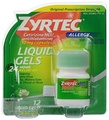 [Direct from USA] Zyrtec Allergy Liquid Gels, 24 Hour, 12 Count