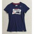 預購-加拿大roots純棉女T恤-藍