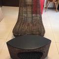 編織藤椅+編織小桌子(高雄桃園可自取)