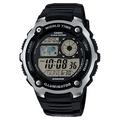CASIO卡西歐10年電力世界時間手錶-黑