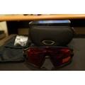 Oakley jawbreaker Prizm ROAD (消光黑紅框+道路版鏡片)