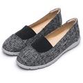 DIANA 輕巧自然—雙色織紋圓頭懶人鞋-黑 7237-96