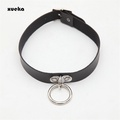 Fashion Choker Leather Necklace Vintage Women Necklaces Jewelry Punk Gothic Tudded Spike Rivet Colla
