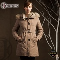 【JORDON 橋登 女 GORE-TEX 二件式大衣外套《深卡》】1960/防水保暖外套/羽絨衣/風衣