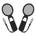 Nintendo任天堂Switch Joy-Con專用網球拍握把 (黑/黑+黑網)(一組2入)