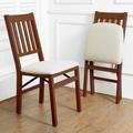 美兒小舖COSTCO好市多線上代購~Stakmore 簡約實木摺疊椅/折疊椅/餐椅(2入組)