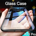 Luxury Clear Tempered Glass Case for OPPO R15 Pro Cover Full Protection Transparent Back Cover Casing for Oppo R15 Pro Housing