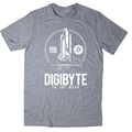 To The Moon  BTC DGB Bitcoin New T Shirts