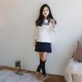 韓版童裝女童秋裝新品中大童學院風連衣裙 (8折)