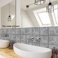 文藝范北歐風歐式工藝風水泥花貼紙磚瓷磚貼臥室廚房牆貼壁貼浴室牆面裝潢