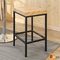 BuyJM工業風方塊實木吧檯椅/高腳椅