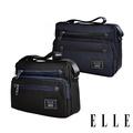 【ELLE】城市都會休旅系列 大容量多隔層機能收納7吋平板休閒橫式斜背/側背包(多色任選 EL83493)