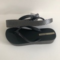 《現貨》Ipanema 女生巴西尺寸33/34,36,37,38,39/40 經典 心機印花 楔型厚底人字夾腳拖鞋-黑色