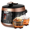 ASD electric pressure cooker 5L large capacity one pot double bile juice collection taste configuration Tai Chi steaming grid One button pressure intelligent reservation pressure cooker AP-F50E803