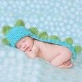 滿月百日宴服裝針織毛衣套裝 立體恐龍造型 兒童攝影服裝 寶寶連身爬服 嬰兒照相衣服