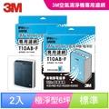 3M 極淨型6坪空氣清淨機專用濾網1年份/超值2入組(濾網型號:T10AB-F)