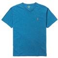 Polo Rlaph Lauren 經典電繡小馬V領素面短袖T恤-亮藍色