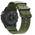Fintie Band for Garmin Fenix 5X Plus/Fenix 3 HR Watch, Premium Woven Nylon Bands Adjustable Replacement Strap for Fenix 5X/5X Plus/3/3 HR Smartwatch - Olive