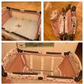 二手嬰兒床+嬰兒遊戲床 (他團同步)