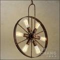 LOFT 復古工業風 馬車車輪造型吊燈燈 金屬材質 6燈 LC-102 〈特價〉 *文昌家具*