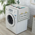 Littleswan Panasonic Washing Machine Cover Midea Haier Fully Automatic Roller Dust Cover Household Fabric Hipster gai jin