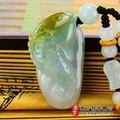 【東方翡翠寶石】連年有魚A貨翡翠吊墜玉墜(三彩玉糯種)FI040