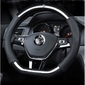 VW 福斯 POLO Golf 6 Golf 7 Tiguan 碳纖維方向盤套 方向盤 皮套 運動型 四季通用