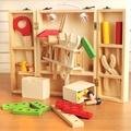 【樂兒學】兒童手提工具箱拆裝玩具木製學習積木