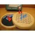 二手 兒童玩具 班恩傑尼 桌遊 原木 雙人小跳棋 原木收納盒