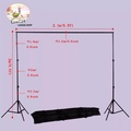 2m * 2m Photography Background Support System Backdrop Stand Crossbar Kit Set 2*2 เมตร Gantry อุปกรณ์ถ่ายภาพขาตั้งกล้องพื้นหลังกรอบเหมาะสำหรับสตูดิโอถ่ายภาพ