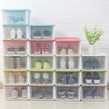 【木暉】加寬版隱藏滑蓋收納鞋盒置物盒10入