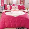 【韋恩寢具】柔絲絨韓版風被套床包組-雙人/好心情
