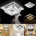 Modern Square Crystal LED Ceiling Light Fixture Pendant Lamp Chandelier Home Decor