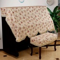 Yexinyuan Fabric Cotton Pastoral Style Piano All Put Piano Cover Piano Dust Cover Piano Cover bu deng Cover