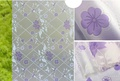 สติ๊กเกอร์ฝ้าติดกระจก แบบมีกาวในตัว ดอกบัวม่วง (หน้ากว้าง 90cm ยาว5เมตร)