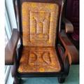 椅墊 單人木沙發坐墊薄款海綿實木紅木沙發坐墊帶靠背 萬客居