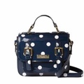 Kate Spade Polka Dots Scout Leather Crossbody Sling Bag (Blue/White)