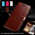 Flip Wallet Case For Samsung Galaxy J2 Pro 2018 Pu Leather Phone Bag Case For Samsung Galaxy J2 Pro 2018 Business Back Case Cover