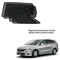 Honda Stream 2008 onwards model Magnetic Sunshade