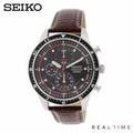 Seiko นาฬิกา Chronograph SNDF45 ประกันศูนย์ Seiko - Brown/Black