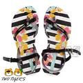 【新品上市】Ipanema 黑白條紋 花卉 中童夾腳涼鞋 NO.Y1141